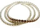 Set 3 1088 Swarovski Classic bracelets, silver plated, 18cm - x1