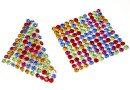Swarovski, crystal mesh, multicolored rainbow, 3.2x3.2cm - x1