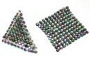Swarovski, crystal mesh, scarabaeus, 3.2x3.2cm - x1
