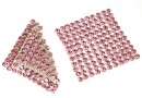 Swarovski, crystal mesh, light rose, 3.2x3.2cm - x1