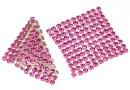 Swarovski, crystal mesh, rose, 3.2x3.2cm - x1