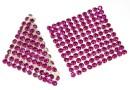 Swarovski, crystal mesh, fuchsia, 3.2x3.2cm - x1