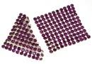 Swarovski, crystal mesh, amethyst, 3.2x3.2cm - x1