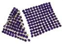 Swarovski, crystal mesh, purple velvet, 3.2x3.2cm - x1