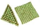 Swarovski, crystal mesh, peridot, 3.2x3.2cm - x1