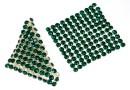 Swarovski, crystal mesh, emerald, 3.2x3.2cm - x1