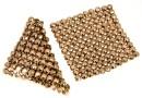 Swarovski, crystal mesh, rose gold, 3.2x3.2cm - x1
