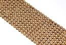 Swarovski, crystal mesh, rose gold, 20x3.2cm - x1