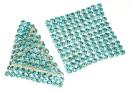 Swarovski, crystal mesh, light turquoise, 3.2x3.2cm - x1