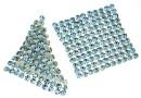 Swarovski, crystal mesh, aquamarine, 3.2x3.2cm - x1