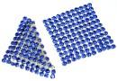 Swarovski, crystal mesh, sapphire, 3.2x3.2cm - x1
