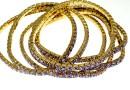 1088 Swarovski tanzanite bracelet, gold plated, 18cm - x1