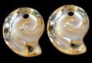 Swarovski, sea snail pendant, golden shadow, 14mm - x1