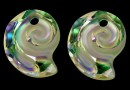 Swarovski, sea snail pendant, luminous green, 14mm - x1