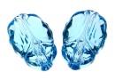 Swarovski, scarabeus bead aquamarine, 12mm - x1