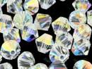 Swarovski, bicone bead, crystal aurora borealis, 3mm - x20