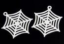 Pendant, spiderweb,  925 silver, 22mm  - x1