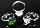 Ring base, adjustable, 925 silver, for Swarovski 4470, 10mm - x1