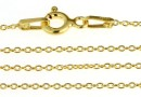 Chain, jump rings, oval, gold-plated 925 silver, 50cm - x1