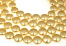 Swarovski disk pearls, gold, 16mm - x2
