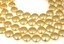 Swarovski disk pearls, gold, 16mm - x2