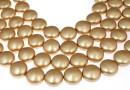 Swarovski disk pearls, vintage gold, 12mm - x4