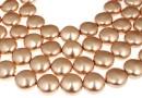 Swarovski disk pearls, rose gold, 12mm - x4