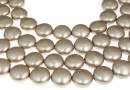 Swarovski disk pearls, platinum, 12mm - x4