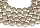 Swarovski disk pearls, platinum, 16mm - x2