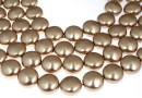 Swarovski disk pearls, bronze, 12mm - x4