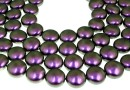 Swarovski disk pearls, iridescent purple, 16mm - x2