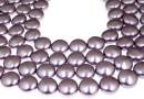 Swarovski disk pearls, mauve, 16mm - x2