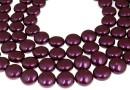 Swarovski disk pearls, blackberry, 16mm - x2