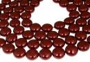 Swarovski disk pearls, bordeaux, 12mm - x4