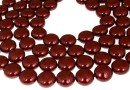 Swarovski disk pearls, bordeaux, 16mm - x2