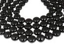 Swarovski disk pearls, mystic black pearl, 12mm - x4