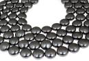 Swarovski disk pearls, black pearl, 16mm - x2