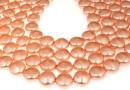 Swarovski disk pearls, rose peach pearl, 12mm - x4