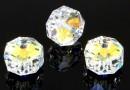 Swarovski, rondelle bead, aurora borealis, 8mm - x2