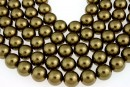 Swarovski pearls, antique brass, 14mm - x2