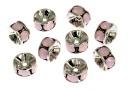 Swarovski, spacer, rhodium-plated, rose water opal, 6mm - x2