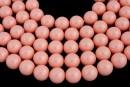 Swarovski pearls, pink coral, 16mm - x1