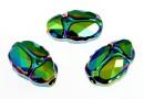 Swarovski, scarabeus bead 2x scarabaeus green, 12mm - x1