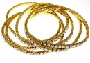 1088 Swarovski aurora borealis bracelet, gold plated, 18 cm - x1