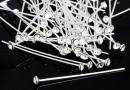Headpin, Swarovski crystal, crystal, 925 silver, 40mm - x1