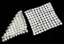 Swarovski, crystal mesh, moonlight, 2.9x2.9cm - x1