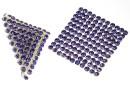 Swarovski, crystal mesh, tanzanite, 3.2x3.2cm - x1