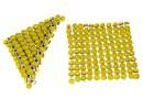 Swarovski, crystal mesh, yellow opal, 3.2x3.2cm - x1