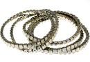 4428 Swarovski 5mm white opal bracelet, rhodium plated, 18cm - x1