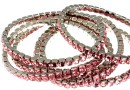 4428 Swarovski 5mm light rose bracelet, rhodium plated, 18cm - x1